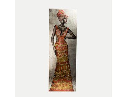 cuadro-canvas-africana-con-vestido-naranja-y-piedras-7701016230896