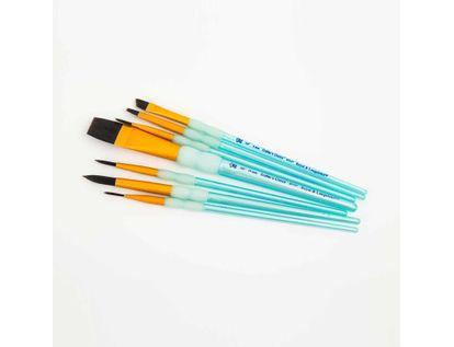 set-de-pinceles-7-unidades-taklon-negro-varios-tamanos-90672364685