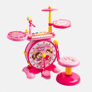 bateria-infantil-con-microfono-y-sonido-rosado-amarillo-612296