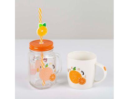set-de-mug-12-onzas-vaso-pitillo-450-ml-orange-611282