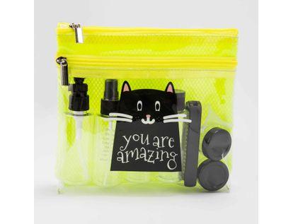 set-de-recipientes-para-viaje-de-10-piezas-en-estuche-color-verde-limon-diseno-gato-negro-7701016998772