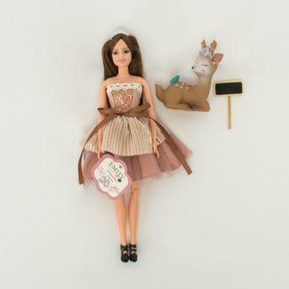 muneca-emily-30-cm-con-vestido-terracota-con-mascota-7701016040839