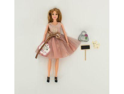 muneca-emily-30-cm-con-vestido-terracota-con-accesorios-7701016040846