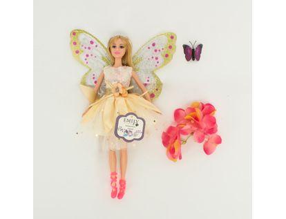 muneca-emily-30-cm-hada-con-flores-y-mariposa-7701016040952