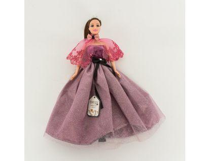 muneca-emily-30-cm-con-vestido-y-chal-morado-7701016041065
