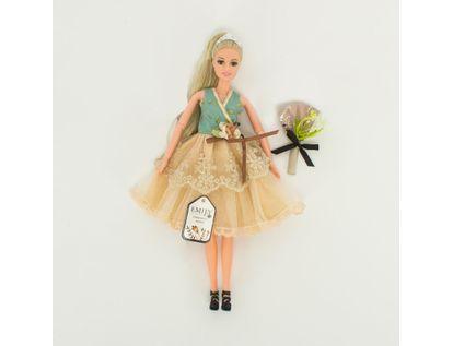 muneca-emily-30-cm-vestido-hojas-con-ramo-7701016041089