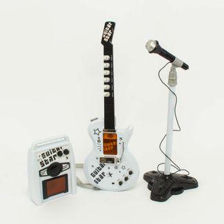 guitarra-con-microfono-y-amplificador-color-blanca-con-negro-7701016043670