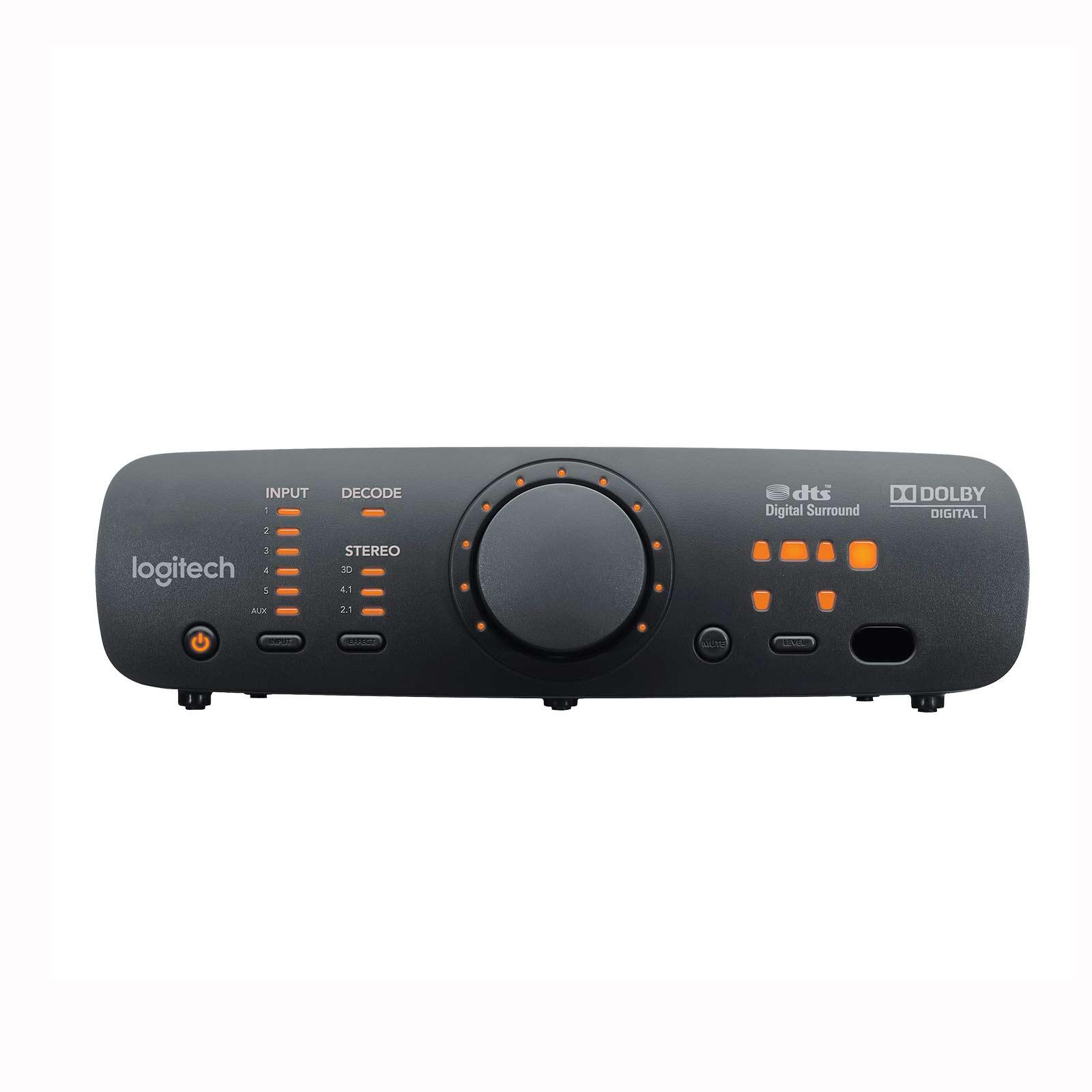 sistema de sonido parlantes logitech z906 de 500 w rms, negro