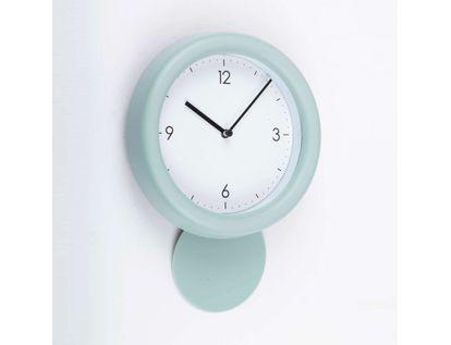 reloj-de-pared-de-18-8-cms-con-pendulo-y-solo-4-numeros-color-verde-menta-614124