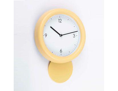 reloj-de-pared-de-18-8-cms-con-pendulo-solo-4-numeros-color-amarillo-614125