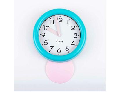 reloj-de-pared-de-18-8-cms-con-pendulo-y-manecillas-gruesas-color-azul-turquesa-614128