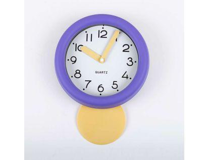 reloj-de-pared-de-18-8-cms-con-pendulo-y-manecillas-gruesas-color-violeta-614130