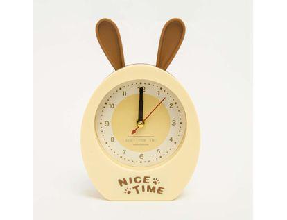 reloj-despertador-con-orejas-de-conejo-color-beige-614157