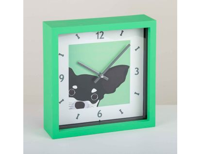 reloj-de-pared-de-23-cms-cuadrado-color-verde-diseno-perro-614141
