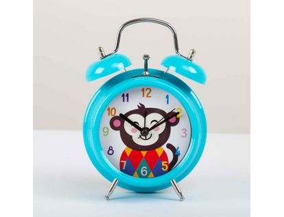 reloj-de-mesa-de-9-8-cms-con-alarma-color-azul-diseno-mono-614166