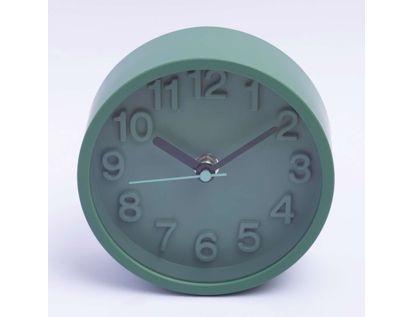 reloj-de-mesa-de-13-cms-forma-circular-color-verde-614295