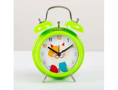 reloj-de-mesa-de-9-8-cms-con-alarma-color-verde-diseno-gato-614381