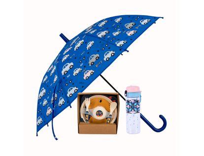 combo-paraguas-vajilla-infantil-termo-azul-614117