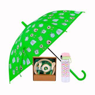set-paraguas-vajilla-infantil-y-termo-verde-614118