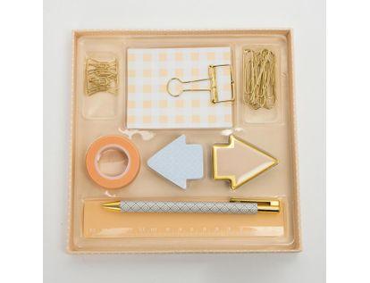 set-de-oficina-x-9-piezas-color-naranja-pastel-7701016039079