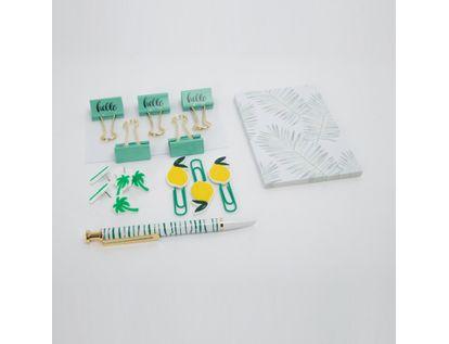 set-de-oficina-verde-x-5-piezas-limon-y-palmera-7701016039109