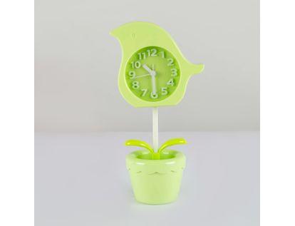 reloj-despertador-verde-diseno-flor-614246