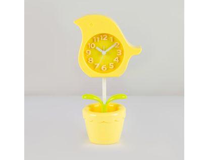 reloj-despertador-amarilla-diseno-flor-614248