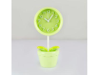 reloj-despertador-verde-diseno-flor-614249