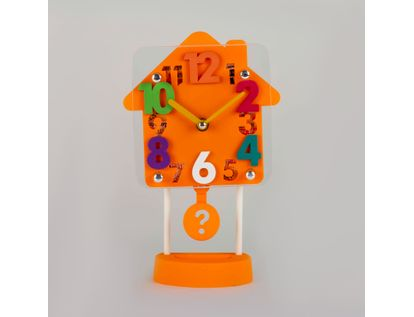 reloj-despertador-naranja-diseno-casa-con-pendulo-614252