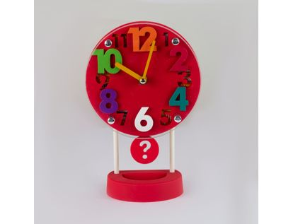 reloj-despertador-rojo-circular-casa-con-pendulo-614257
