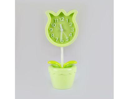 reloj-despertador-verde-diseno-tulipan-614263
