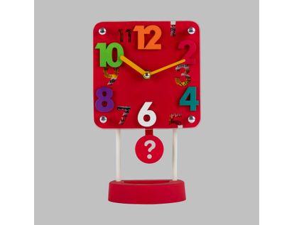 reloj-despertador-rojo-cuadrado-con-pendulo-614266