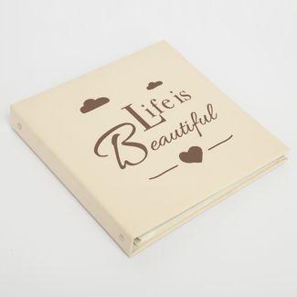 album-fotografico-beige-de-20-hojas-diseno-life-is-beautiful-615033