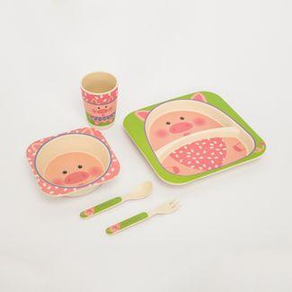 set-de-vajilla-infantil-x-5-piezas-diseno-cerdo-7701016021449