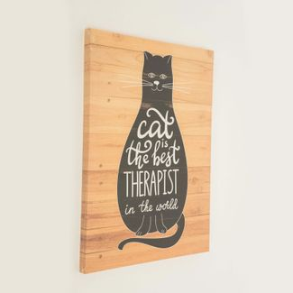 cuadro-canvas-40-x-30-cm-cat-is-the-best-7701016827805