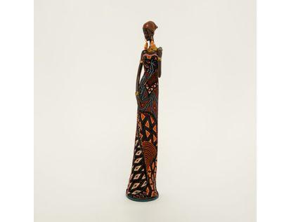 figura-de-mujer-africana-con-vestido-de-hojas-azul-con-naranja-de-41-cm-7701016898454