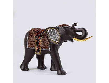 figura-de-elefante-23-cm-x-35-cm-diseno-de-rombos-y-cuadros-color-cafe-blanco-y-naranja-7701016898614
