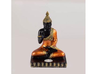 figura-de-buda-sentado-con-mano-arriba-con-vela-color-naranja-con-negro-7701016898713