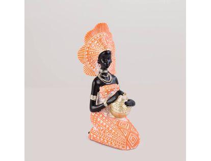 figura-de-mujer-africana-arrodillada-con-jarra-color-naranja-con-dorado-de-20-5-cm-7701016976671
