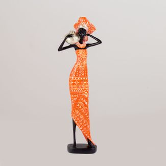 figura-de-mujer-africana-de-36-cm-con-jarro-color-naranja-con-plateado-7701016976749