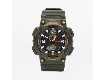 reloj-analogo-diseno-plastico-color-verde-con-naranja-4971850960638
