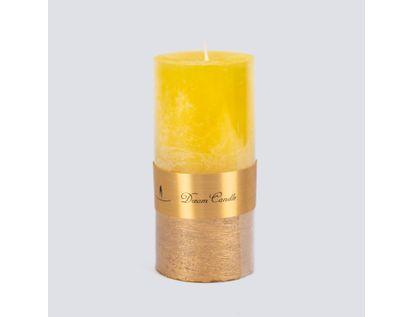 vela-verde-dream-candle-14-cm-amarillo-con-dorado-614385