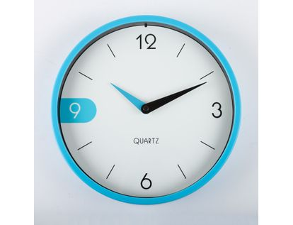 reloj-de-pared-22-cm-blanco-circular-con-borde-azul-614522