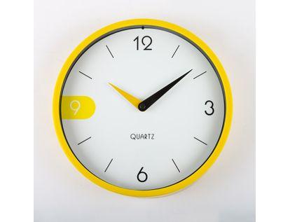 reloj-de-pared-22-cm-blanco-circular-con-borde-amarillo-614523