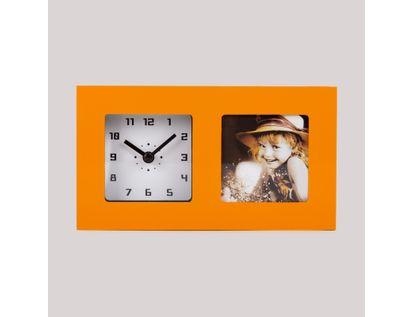reloj-de-pared-portarretratos-de-1-foto-naranja-614534