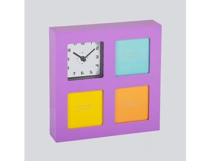 reloj-de-pared-portarretratos-de-3-fotos-morado-614539