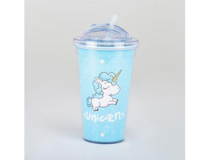 vaso-con-pitillo-unicornio-azul-614675