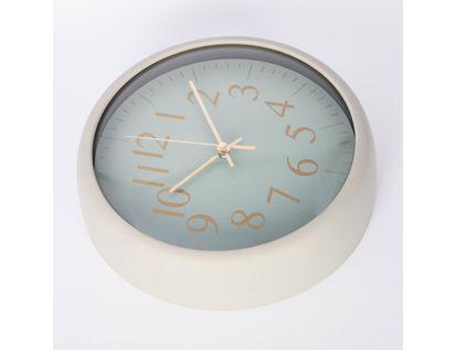 reloj-de-pared-de-22-5-cms-color-verde-con-numeros-dorados-614382