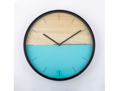 reloj-de-pared-30-5-cm-verde-menta-circular-borde-negro-614394