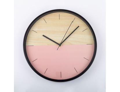 reloj-de-pared-30-5-cm-rosado-circular-borde-negro-614395